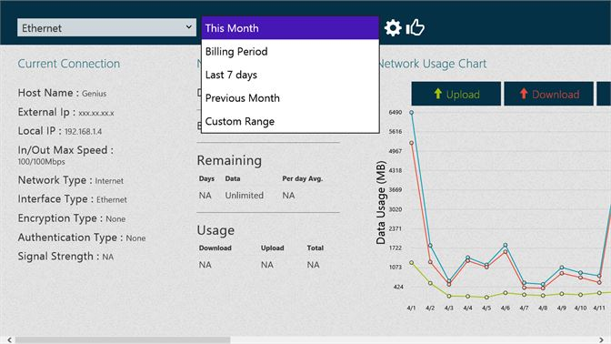 Get Data Usage - Microsoft Store