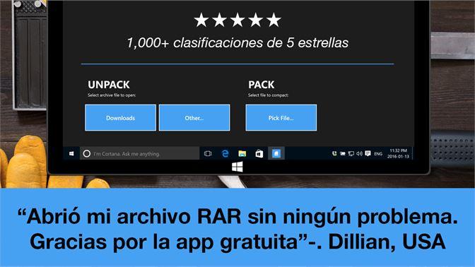 aplicacion para abrir archivos rar windows 10