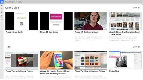 Picasa Windows10 Guide Screenshots 1