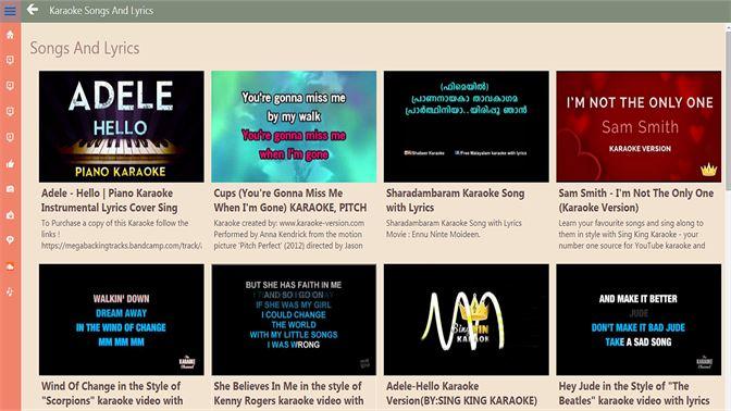 Karaoke Songs And Lyrics Beziehen Microsoft Store De Lu
