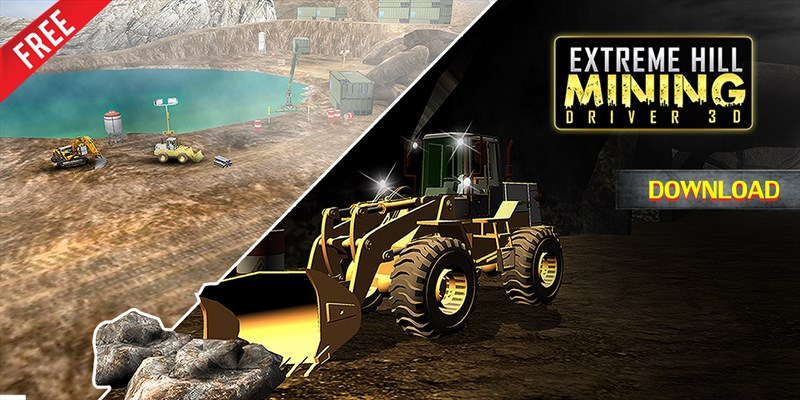 Get Extreme Hill Mining Driver 3D - Mountains Tunnels