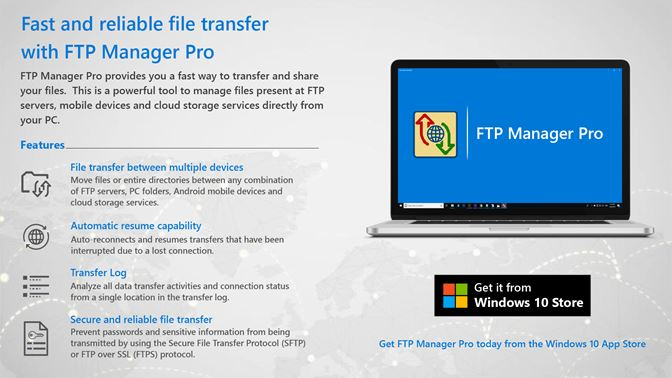 Get FTP Manager Pro - Microsoft Store