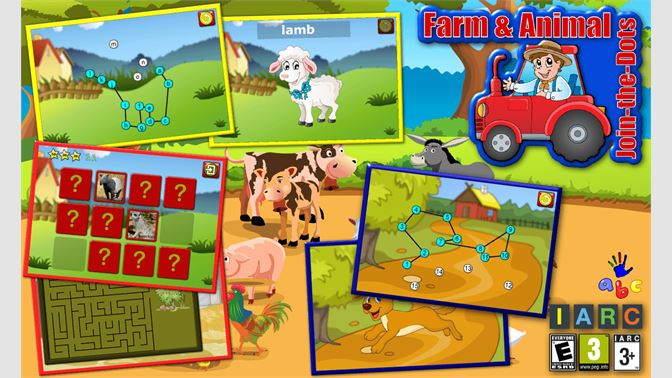 Get Preschool ABC Farm and Animal Join the Dot Puzzles - teaches