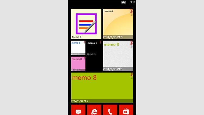 Get Memo 8 - Microsoft Store