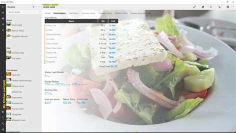 Food Cost Profiler Screenshots 1