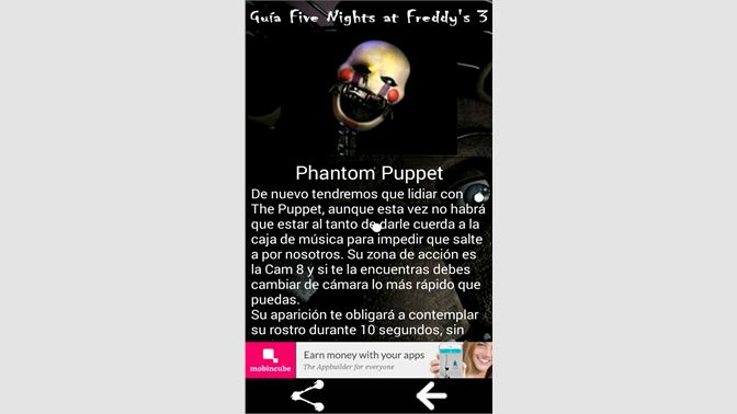 Obtener Guía Five Nights At Freddys 3 Microsoft Store Es Ar