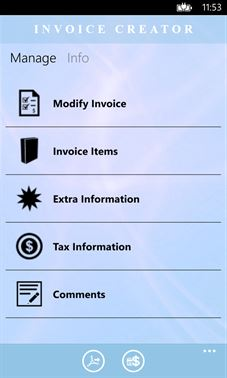 Volcor Software Invoice Creator | Windows Phone