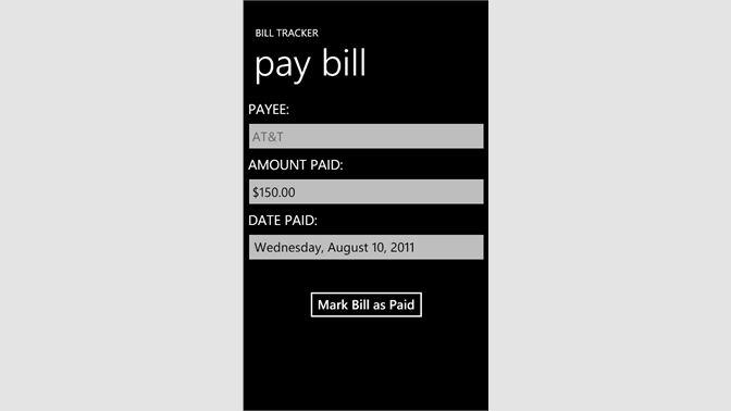 bill tracker を購入 microsoft store ja jp