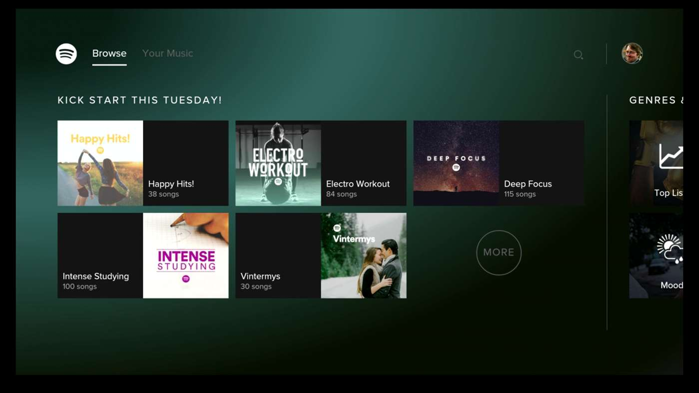 Spotify for Xbox One