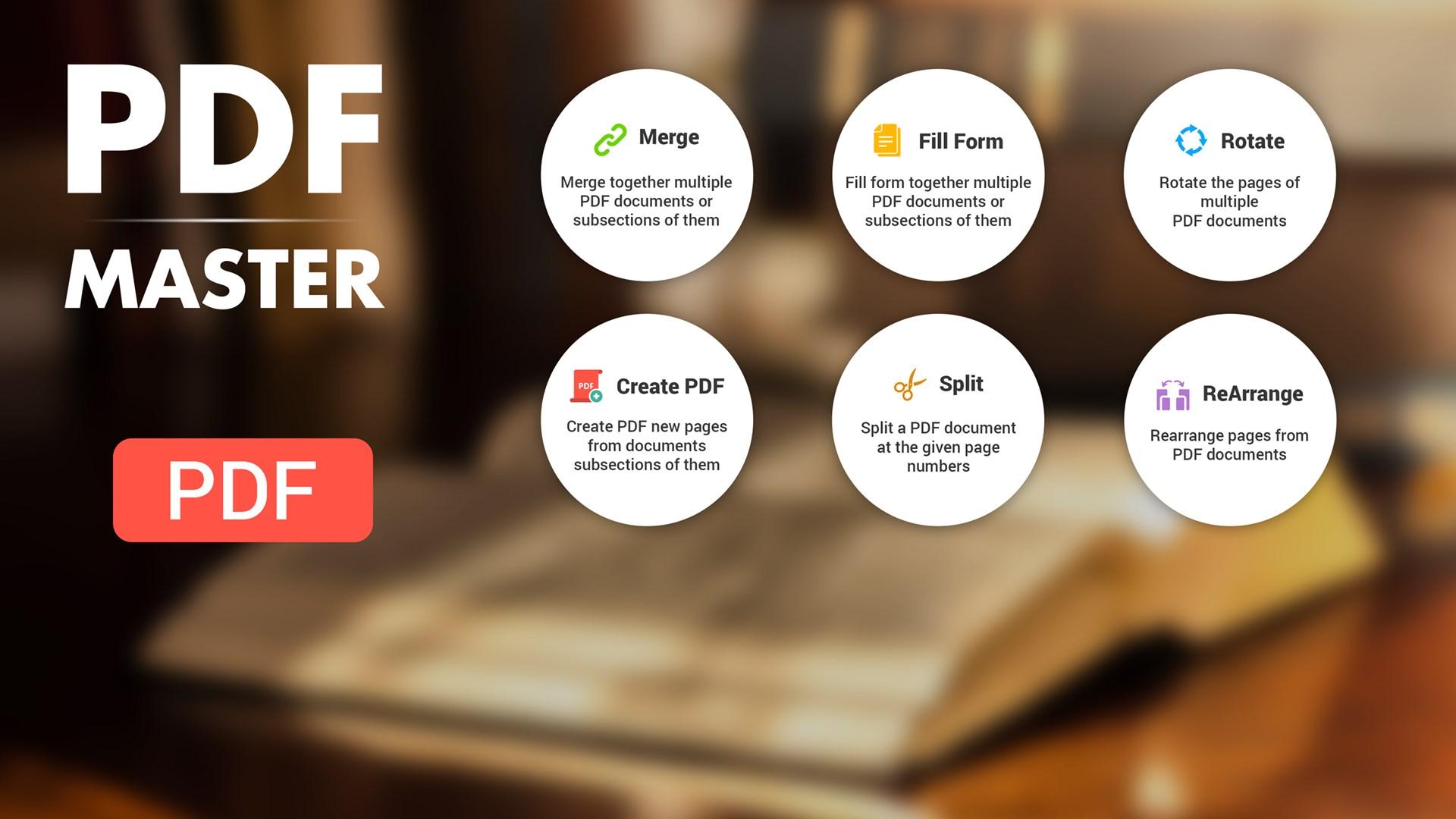 Get PDF Master : Viewer,Spliter,ReOrder,Editor & Fill Forms