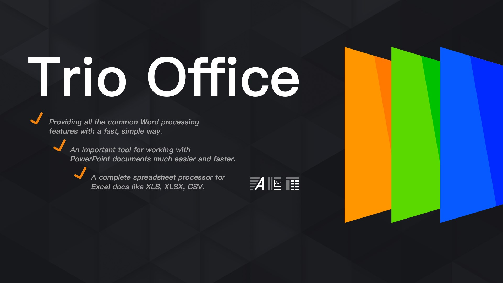 Get Trio Office: Word, Slide, Spreadsheet & PDF Compatible