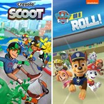 Paw Patrol: On a Roll and Crayola Scoot Logo