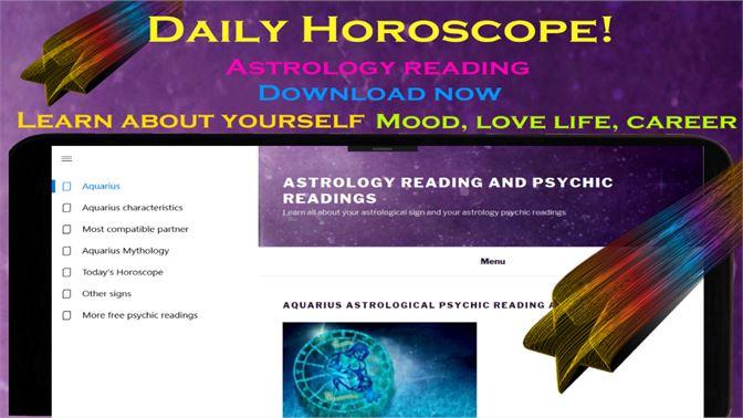 Get Aquarius daily horoscope Astrology psychic reading - Microsoft Store