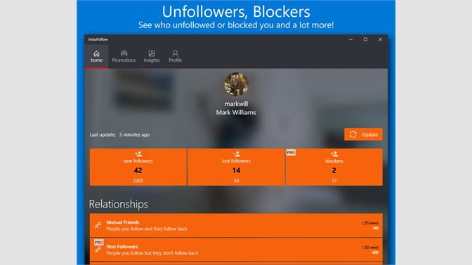 Get Followers Insight - Microsoft Store