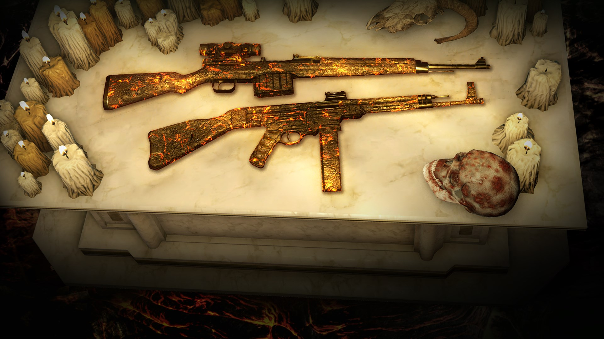 Zombie Army 4: Molten Lava Weapon Skins