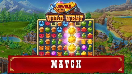 Jewels of the Wild West: Match gems & restore the town screenshot