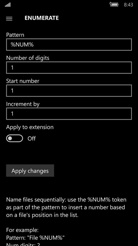 File Renamer – (Windows Phone Apps) — AppAgg