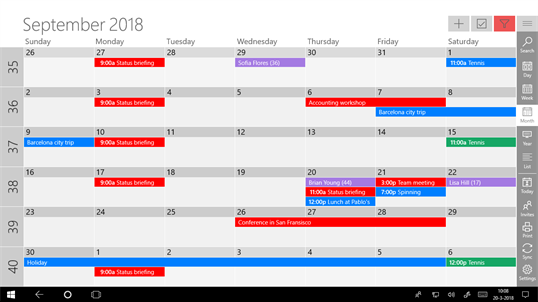 One Calendar screenshot 1