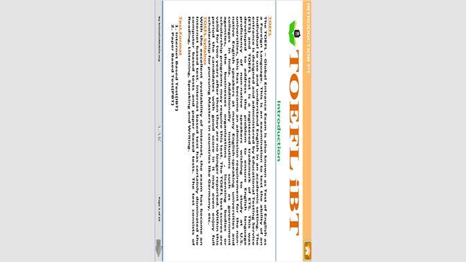 Get TOEFL Tutorial Free - Microsoft Store