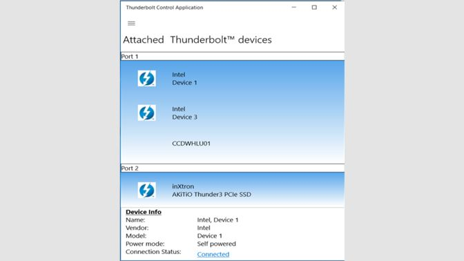 Get Thunderbolt Control Center - Microsoft Store