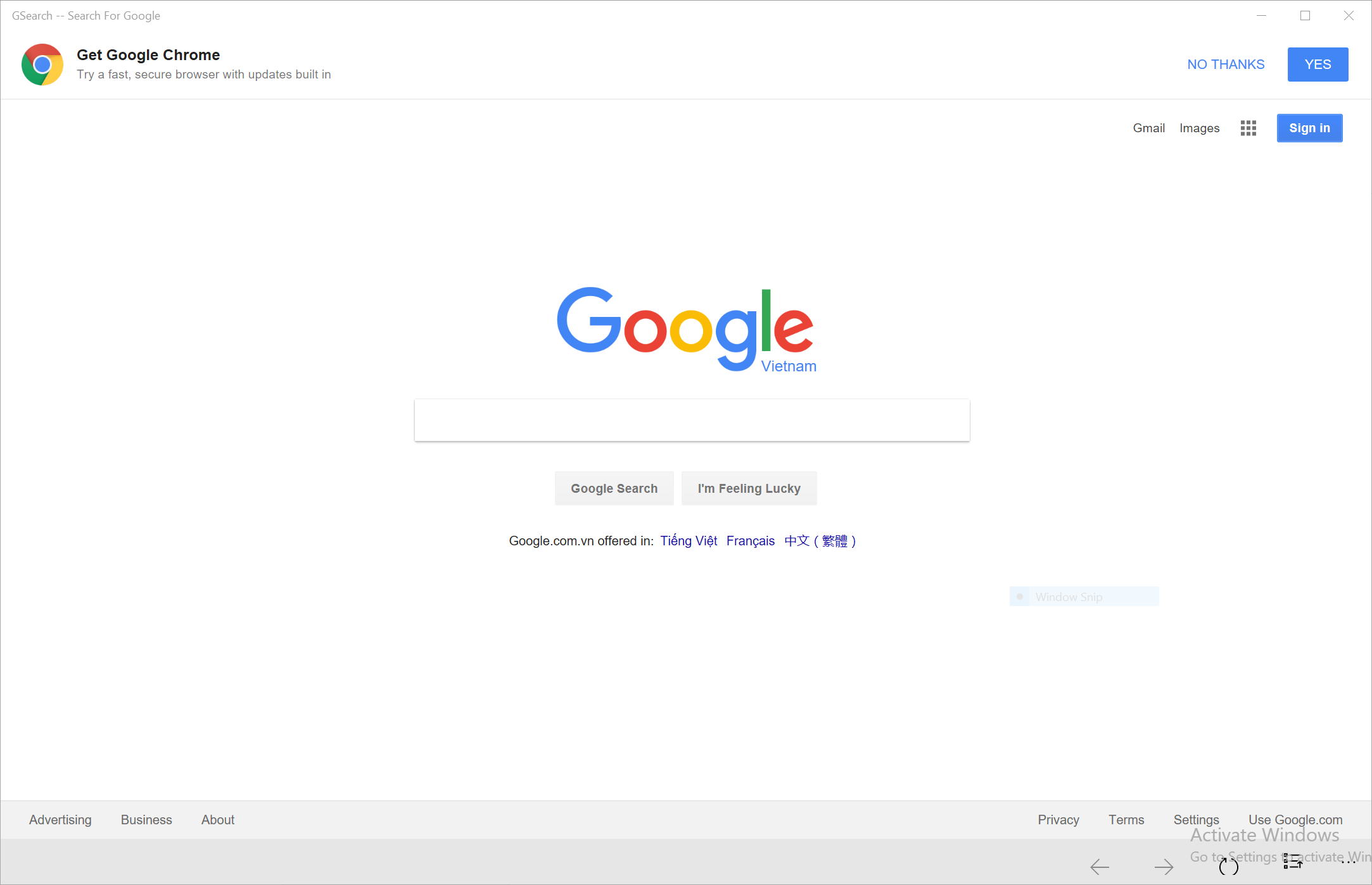 GSearch - Search For Google