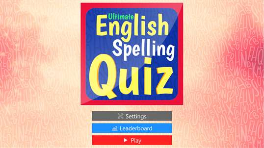 Ultimate English Spelling Quiz screenshot 2