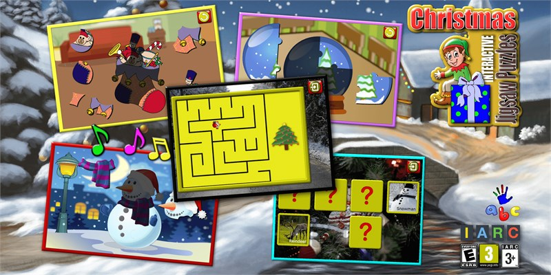 Get Kids Christmas Jigsaw Puzzles - educational game for