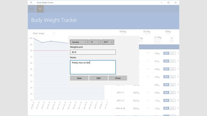get body weight tracker microsoft store