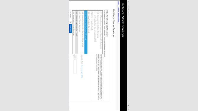 Get Technical Stocks Screener - Microsoft Store