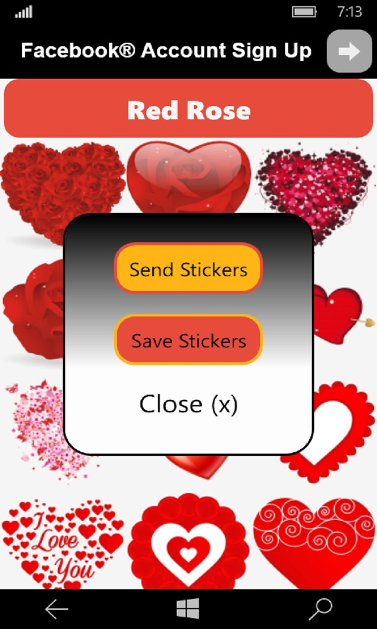 Adult Love Stickers & flirty Emoticons for Windows 10 free