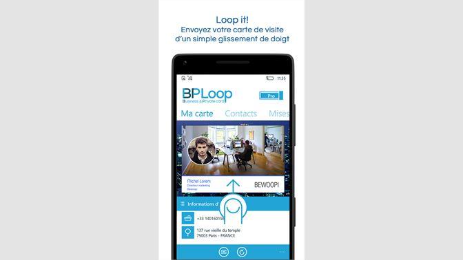 Recevoir BPLoop Carte De Visite Digitale