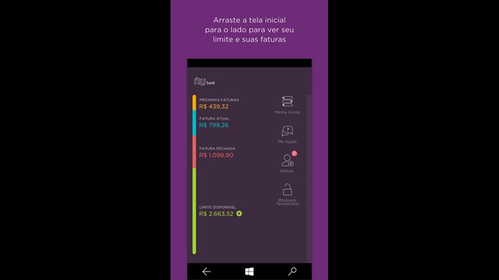 Nubank Windows Phone app updated with Card Tracking 2