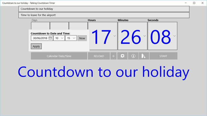 Get Talking Countdown Timer - Microsoft Store