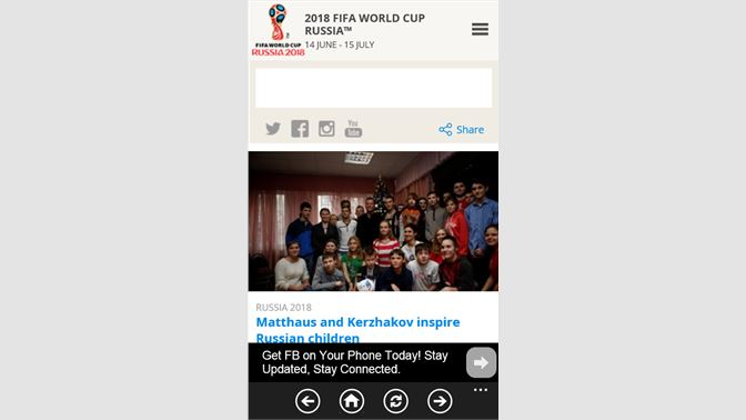 Get World Cup Live For WP - Microsoft Store