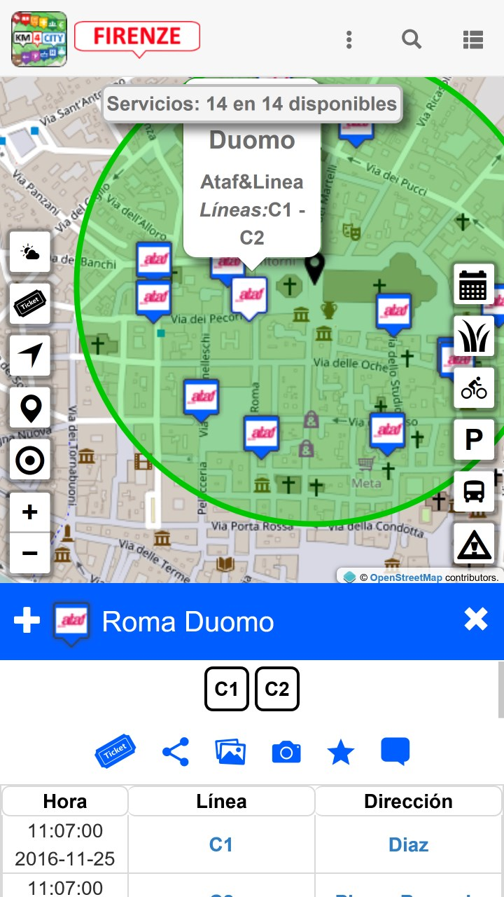 Captura 7 de Firenze dove, cosa... Km4city para windows
