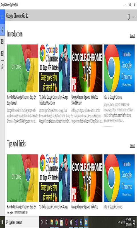 Captura de Pantalla 2 de Google Chrome Easy App Guide para windows