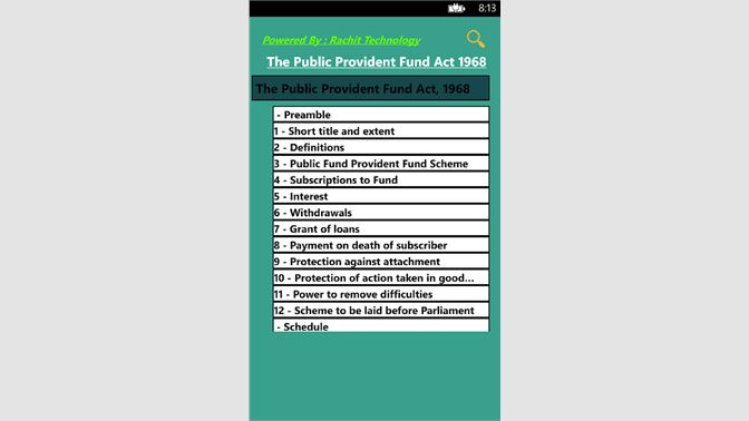 Get The Public Provident Fund Act 1968 - Microsoft Store