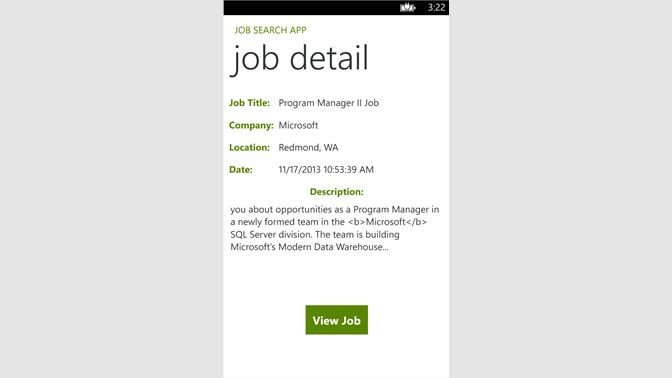 get job search app microsoft store