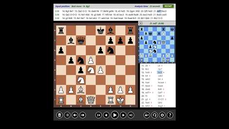 Screenshot: Analyse your games using a strong chess engine