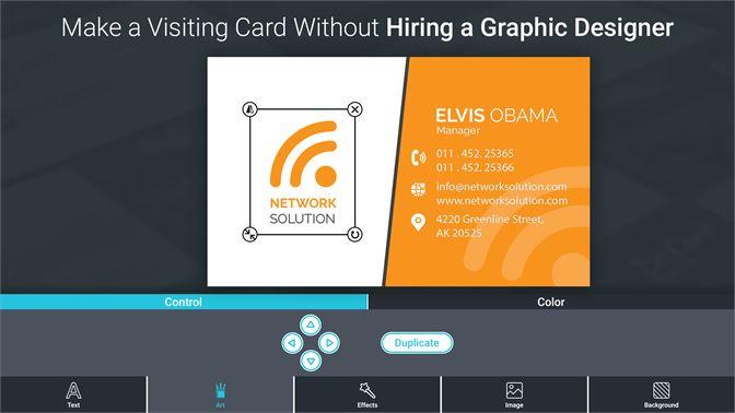 Get Business Card Maker And Designer Microsoft Store En Ae