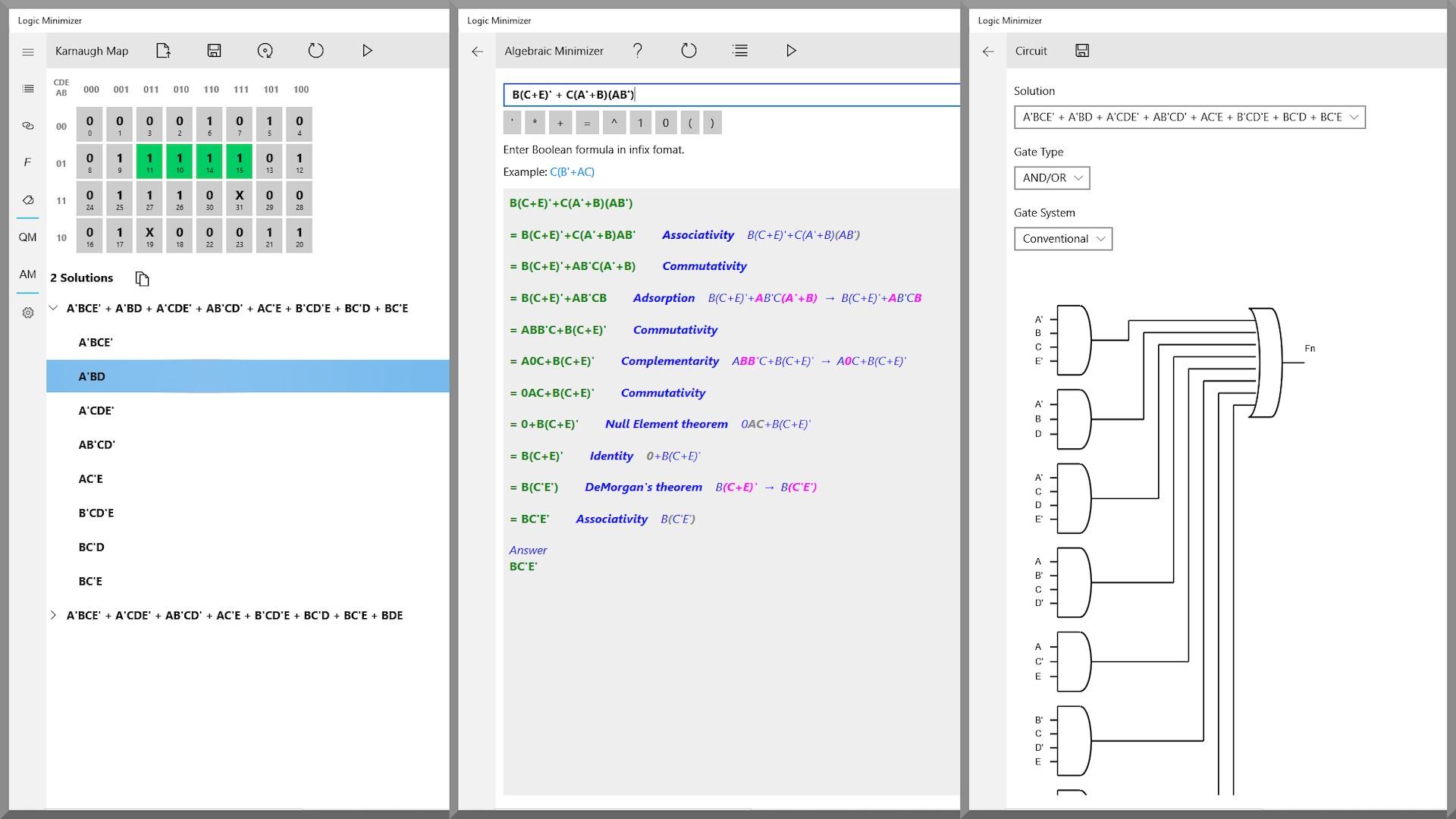 Buy Logic Minimizer Karnaugh Map Tool Microsoft Store