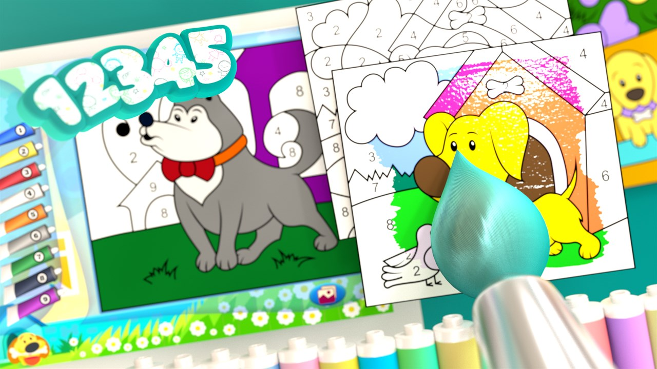 color by numbers dogs を入手 microsoft store ja jp
