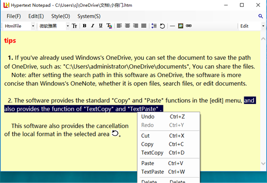 Hypertext Notepad screenshot 6