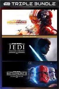 Carátula para el juego EA STAR WARS TRIPLE BUNDLE de Xbox 360