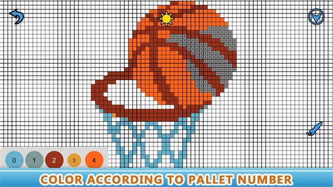 Get Pixel Art Sandbox Number Coloring Book Color By