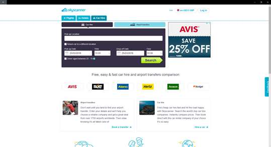 Skyscanner screenshot 3