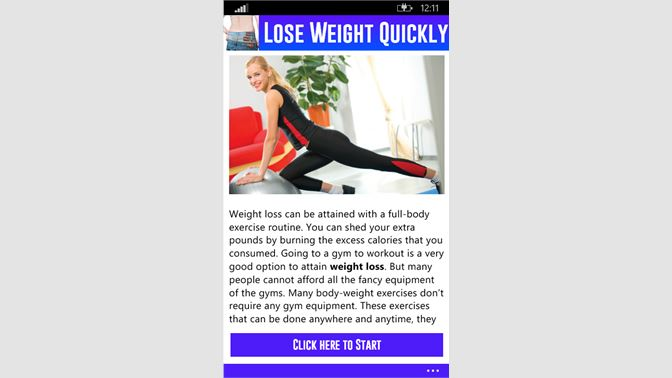 Get Lose Weight Quickly - Microsoft Store