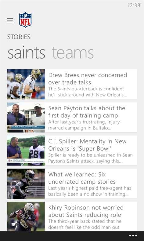 NFL Mobile Screenshots 1