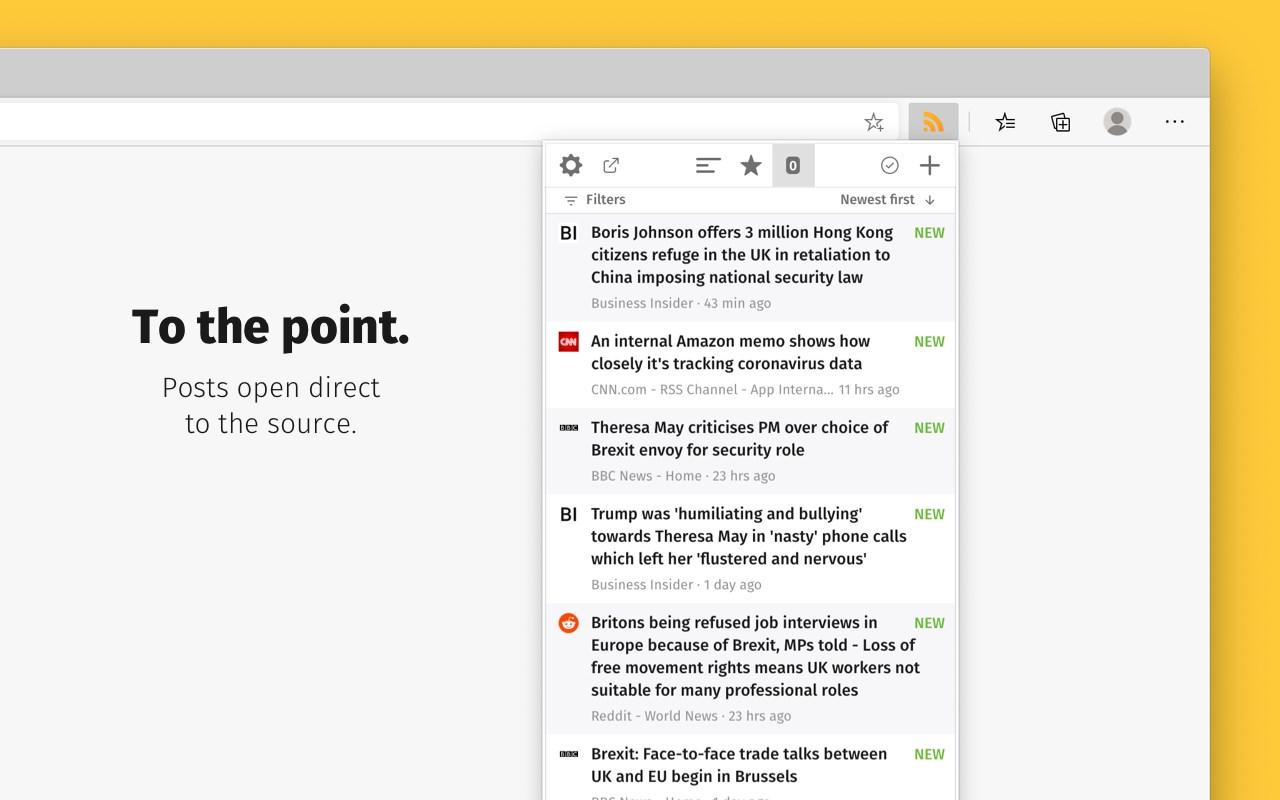 Feeder   RSS Feed Reader   Microsoft Edge Addons