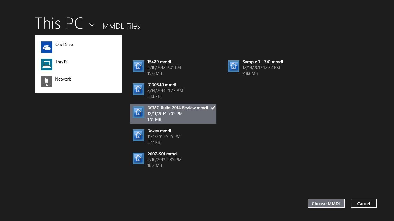 MiTek SAPPHIRE Mobile Viewer for Windows 10